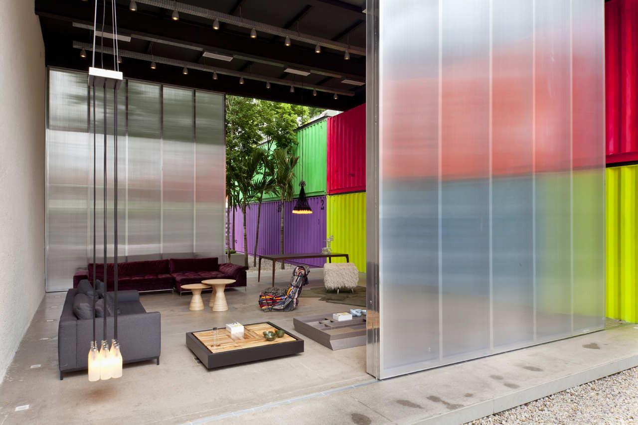 Huge Sliding Polycarbonate Doors Closing A Showroom Porch 223
