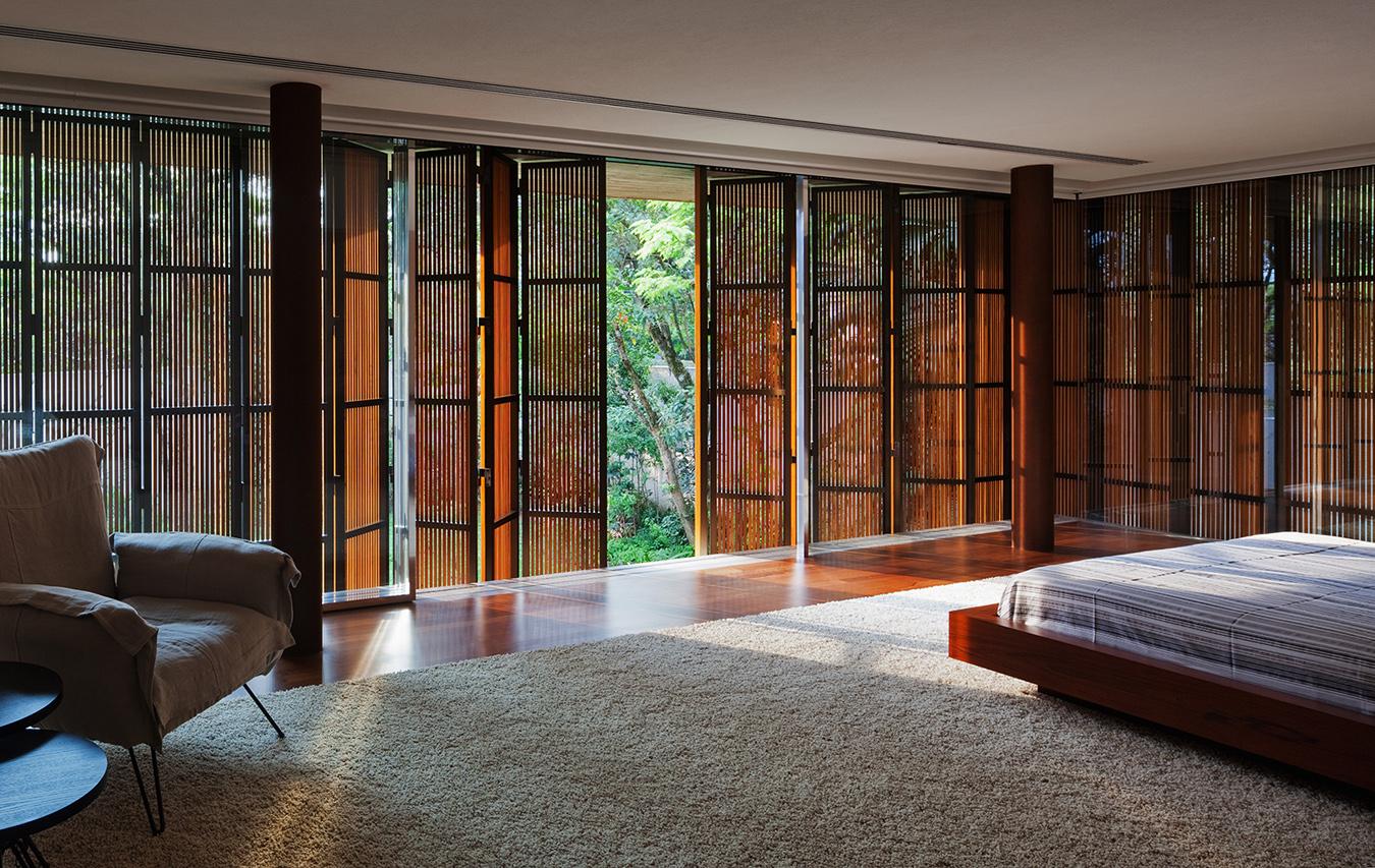 Horizontal Folding Sliding Louvered Panels In Brazil 536