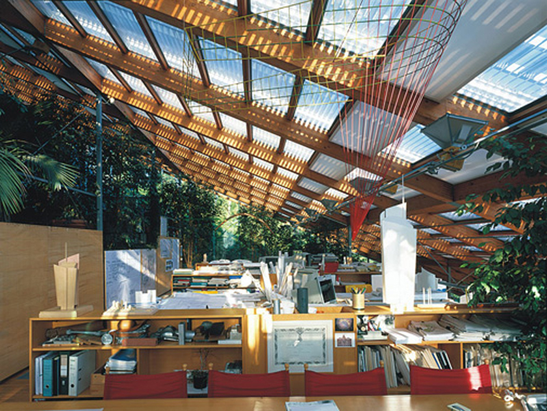The Glazed Roof Of Renzo Piano S Studio 559 Filt3rs