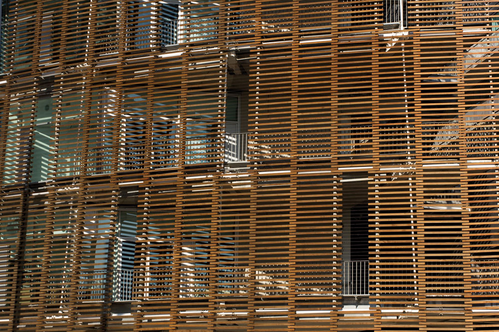 Timber Louvers On Barcelona Biomedical Research Park 367