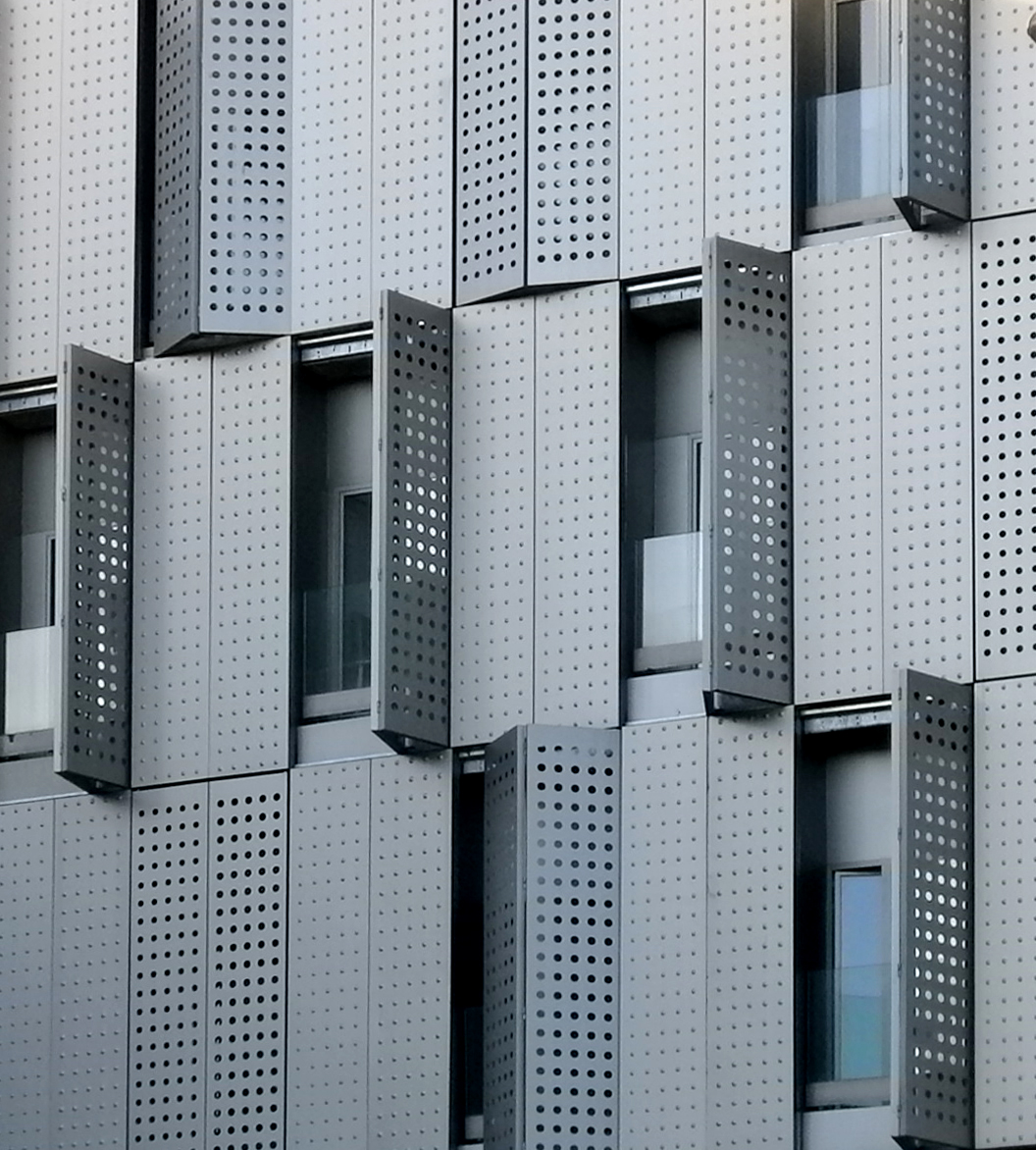 Façade of composite perforated shutters, Bcn [151] | filt3rs