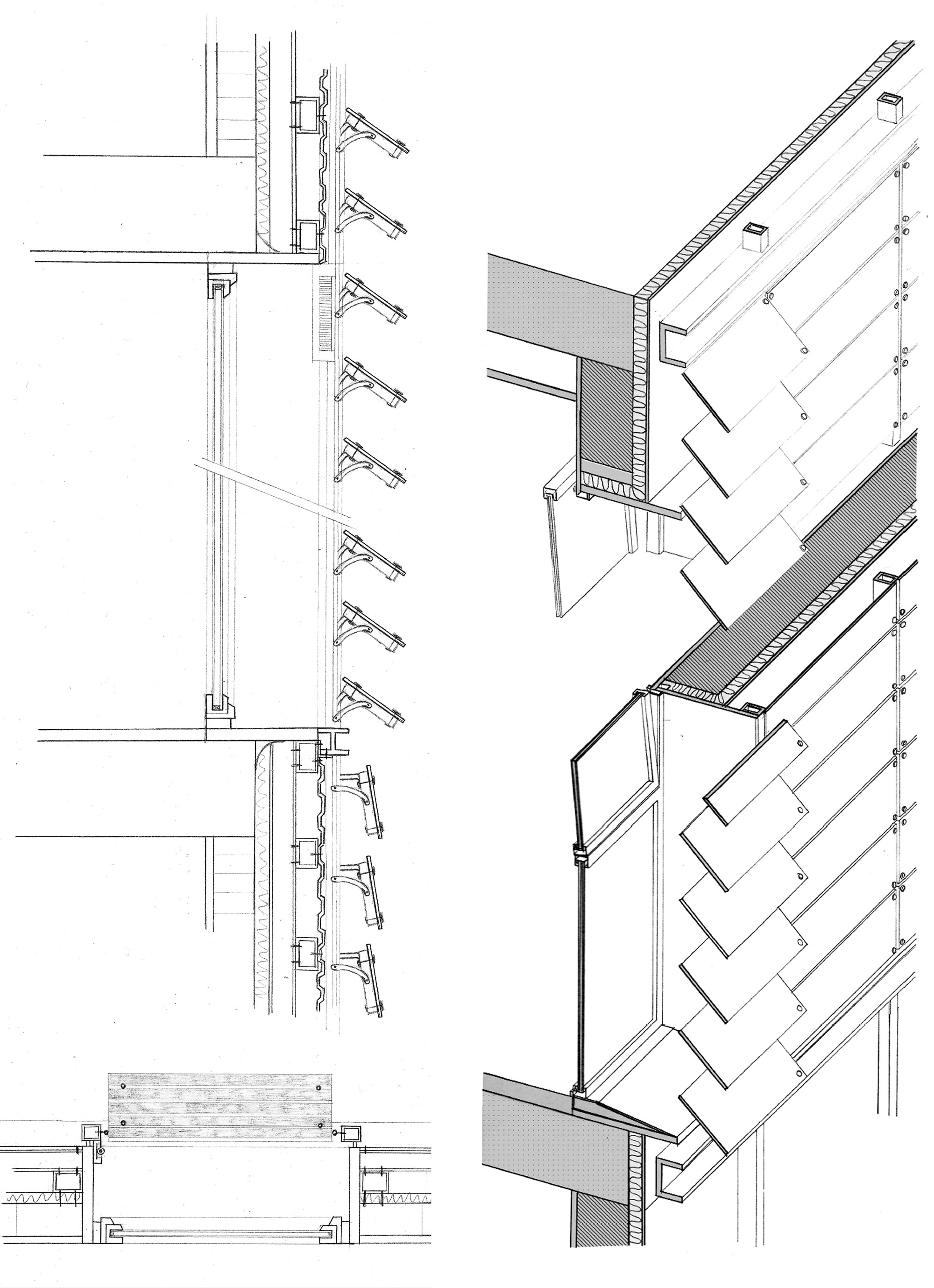 exterior pivoting louvers on communication campus upf  203