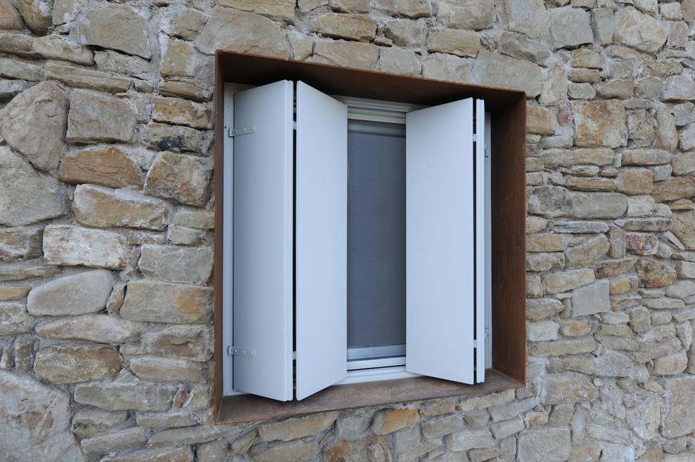 Exterior Folding Sliding Shutters On Maison Malatesta 094