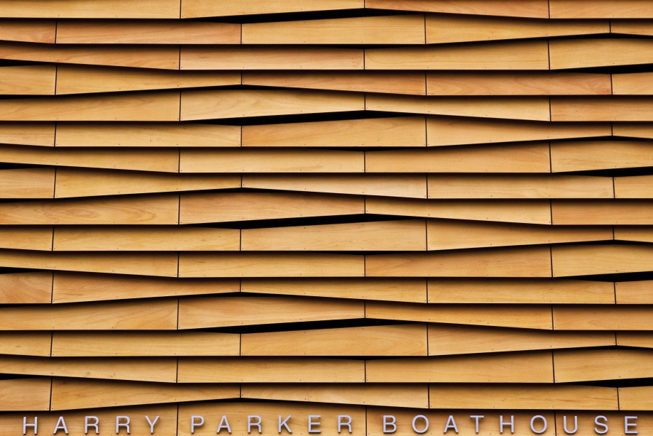 The Scaly Louvers Facade On Boathouse In Brighton 371