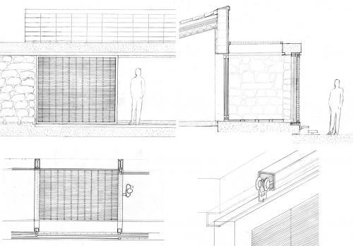 Intermediate space behind wicker shutters, Serra&Adroer
