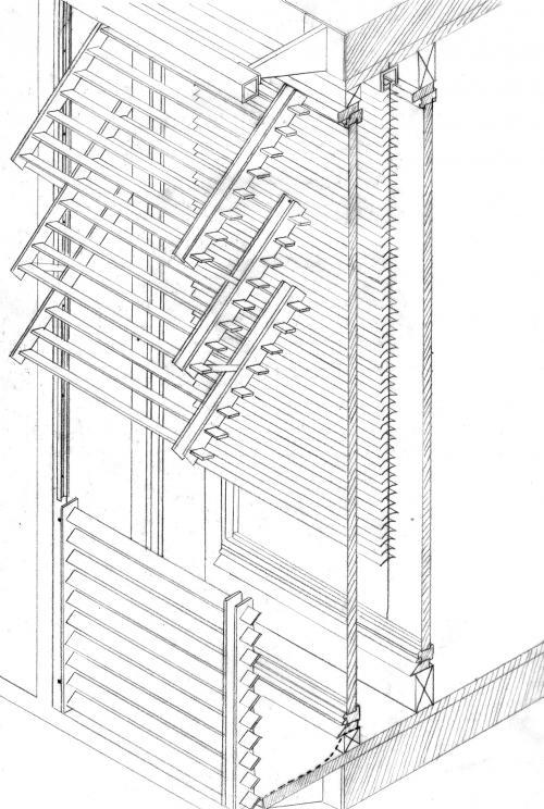 berlin vertical folding sliding louvered shutter  220