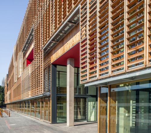 wooden louvered shutters on a university building 493 filt3r