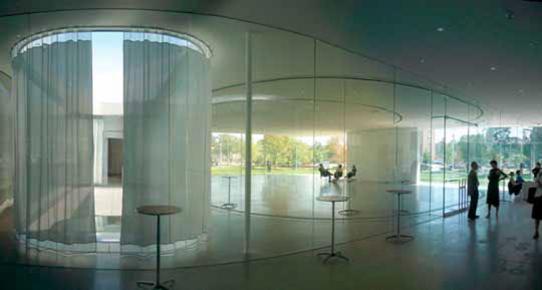 Link: Inner curtain in Sanaa's Museum in Toledo, Ohio [521]