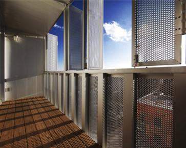 Link: Perforated shutter on housing in Montéal, by KANVA [325]